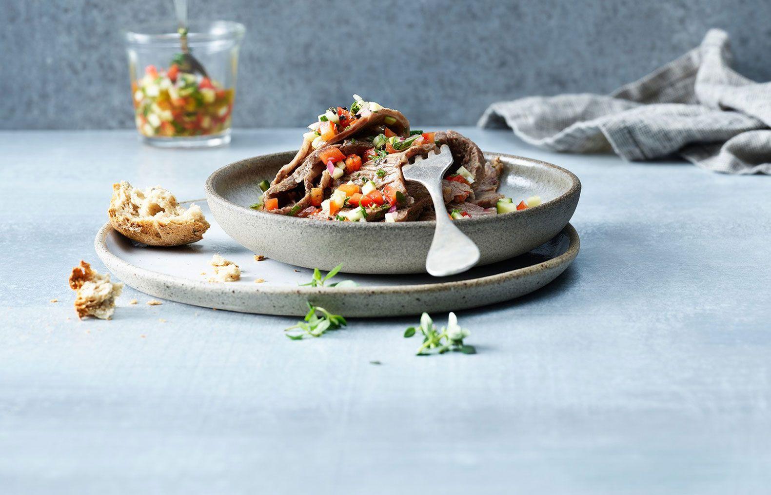 Boiled beef carpaccio